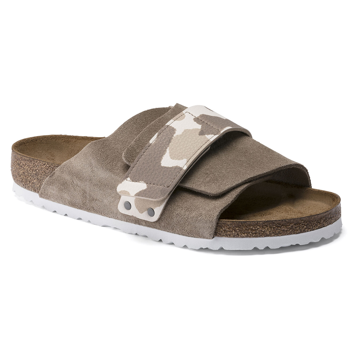 Birkenstock Kyoto Suede Leather/Birko-Flor Gray Taupe Store