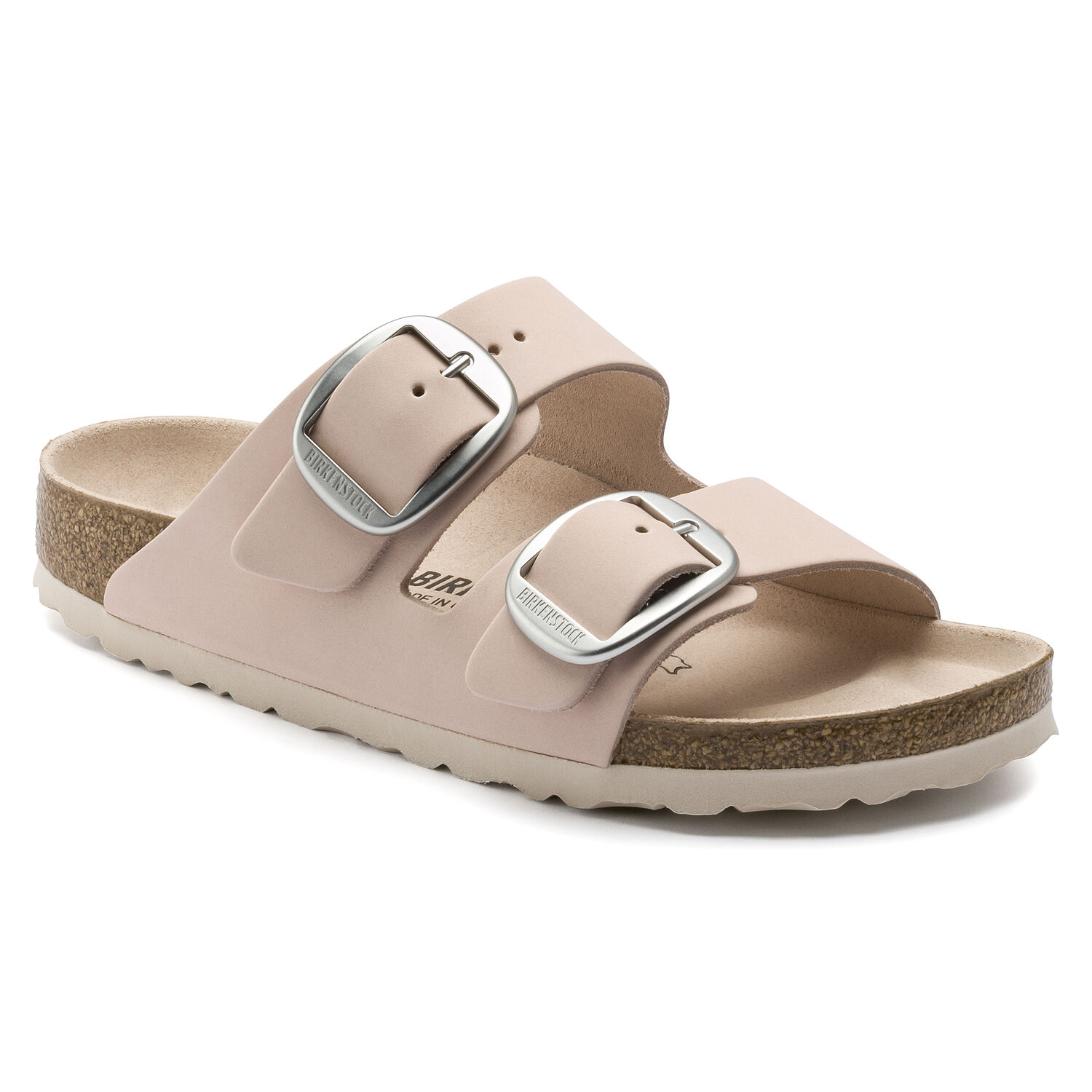 Birkenstock Arizona Big Buckle Nubuck Leather Light Rose