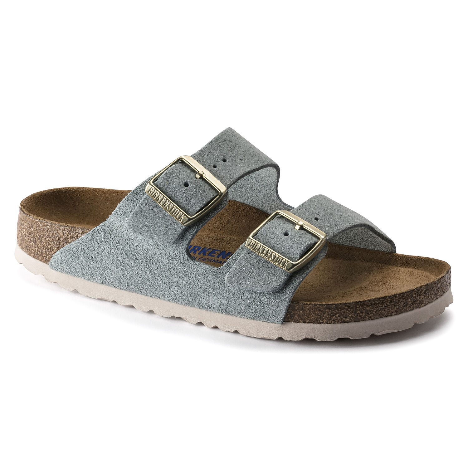 Birkenstock Arizona Soft Footbed Suede Leather Light Blue