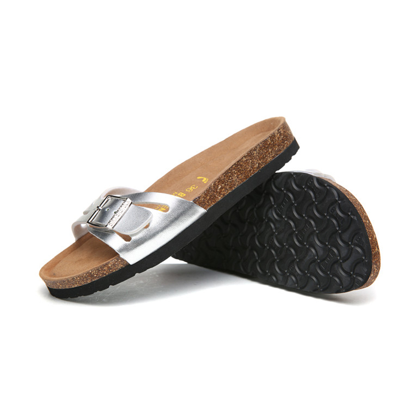 2018 Birkenstock 051 Leather Sandal silver