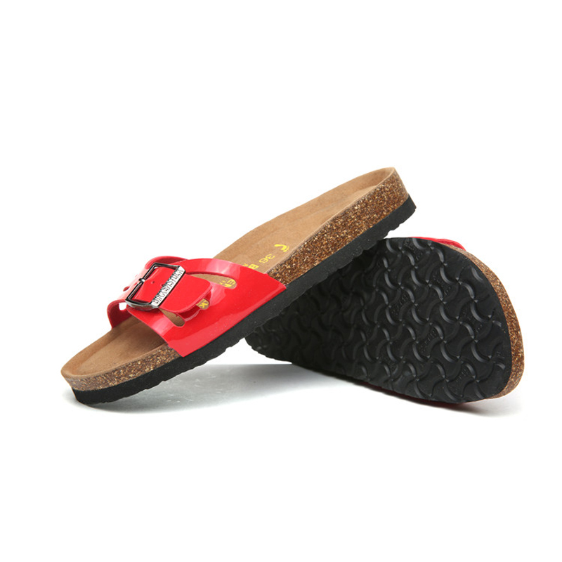 2018 Birkenstock 052 Leather Sandal red