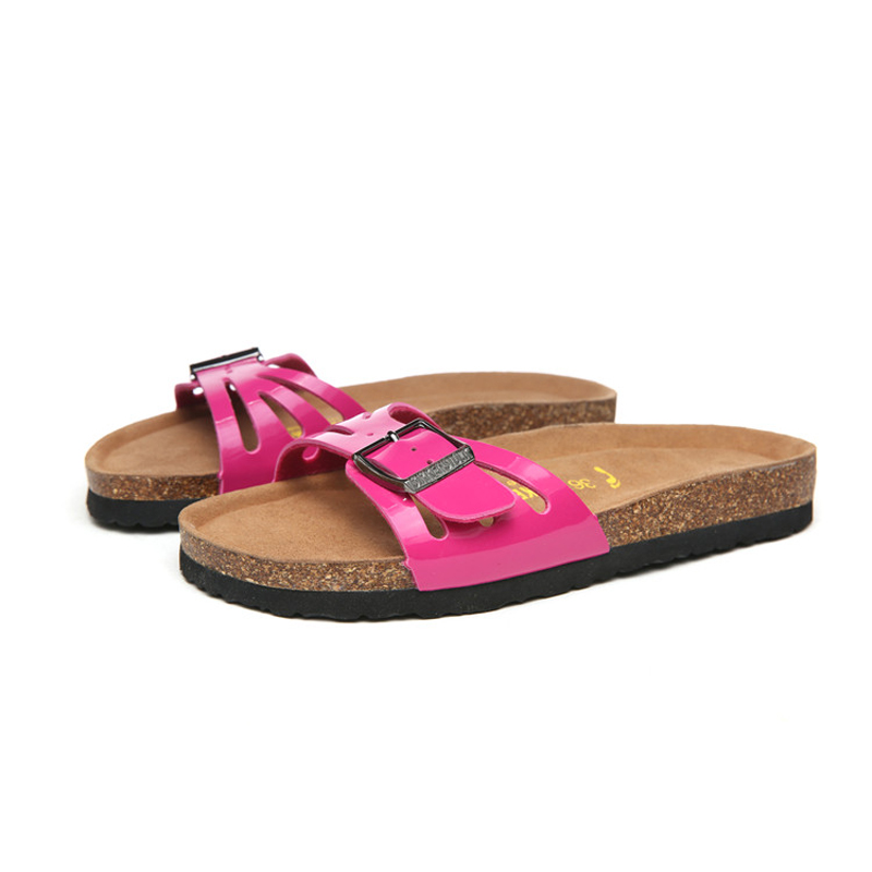 2018 Birkenstock 053 Leather Sandal rose red
