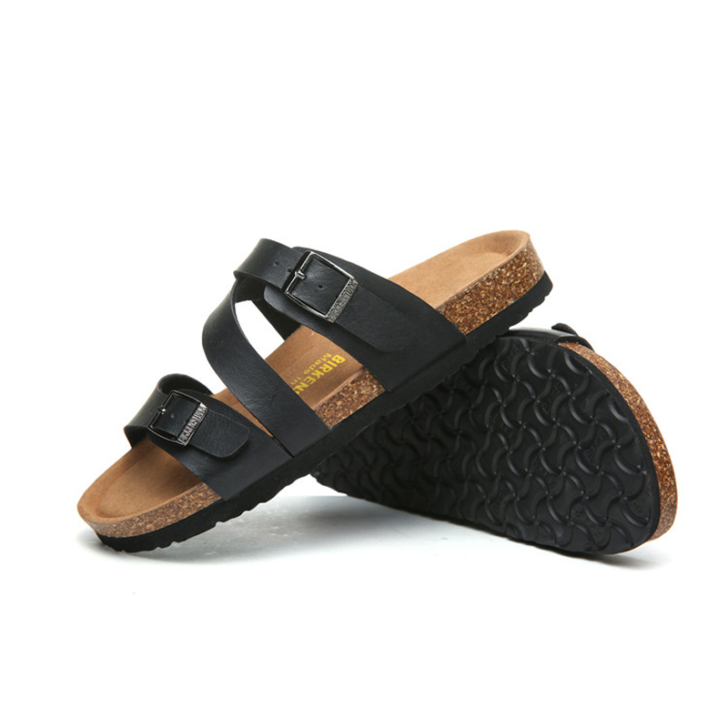 2018 Birkenstock 058 Leather Sandal black