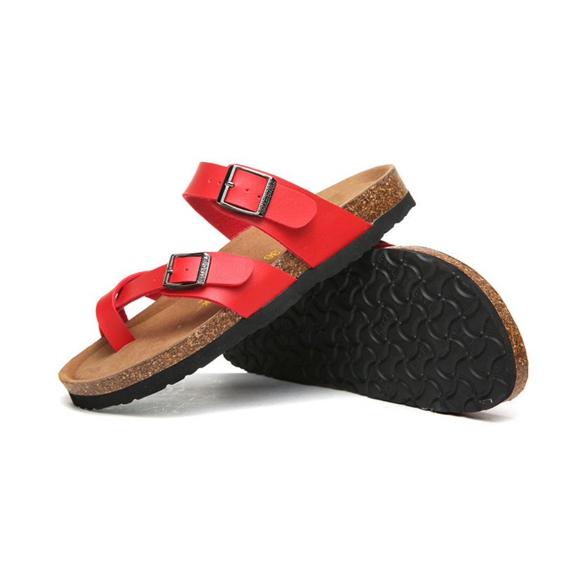 2018 Birkenstock 068 Leather Sandal red
