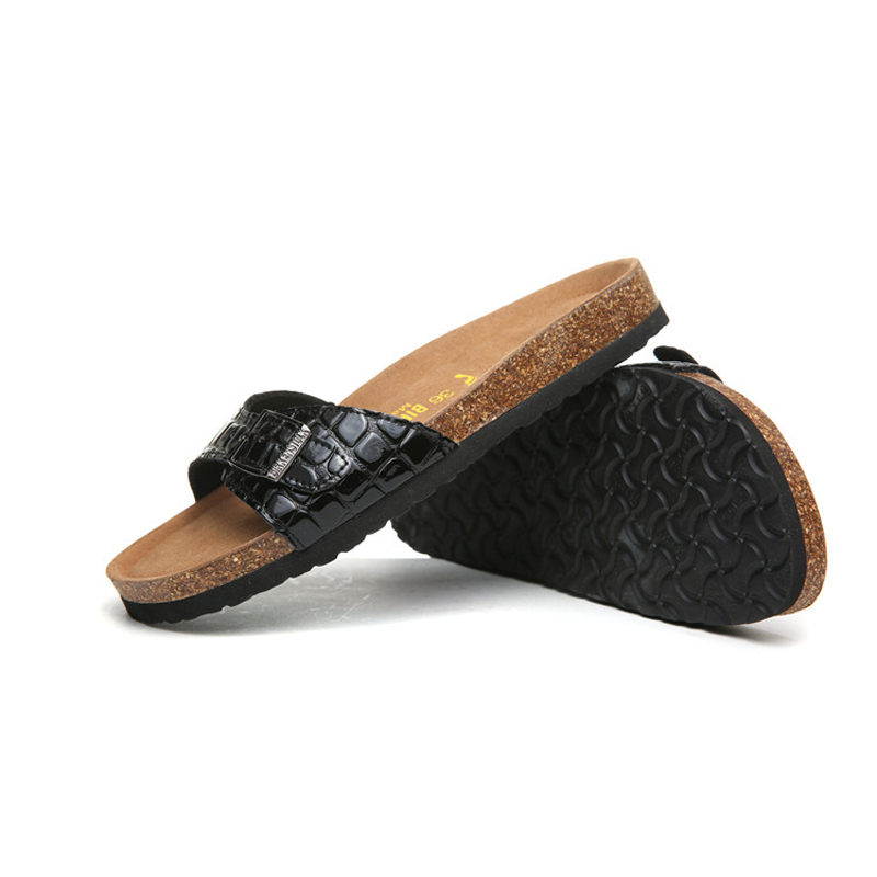 2018 Birkenstock 073 Leather Sandal black