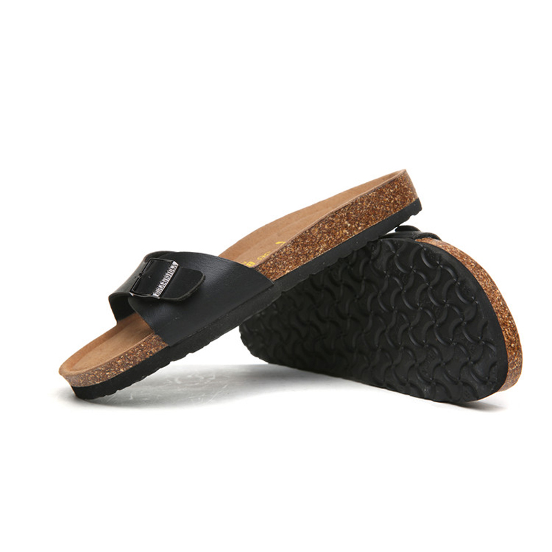 2018 Birkenstock 075 Leather Sandal black