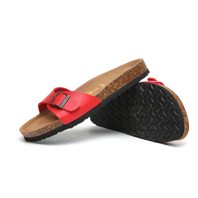 2018 Birkenstock 076 Leather Sandal red