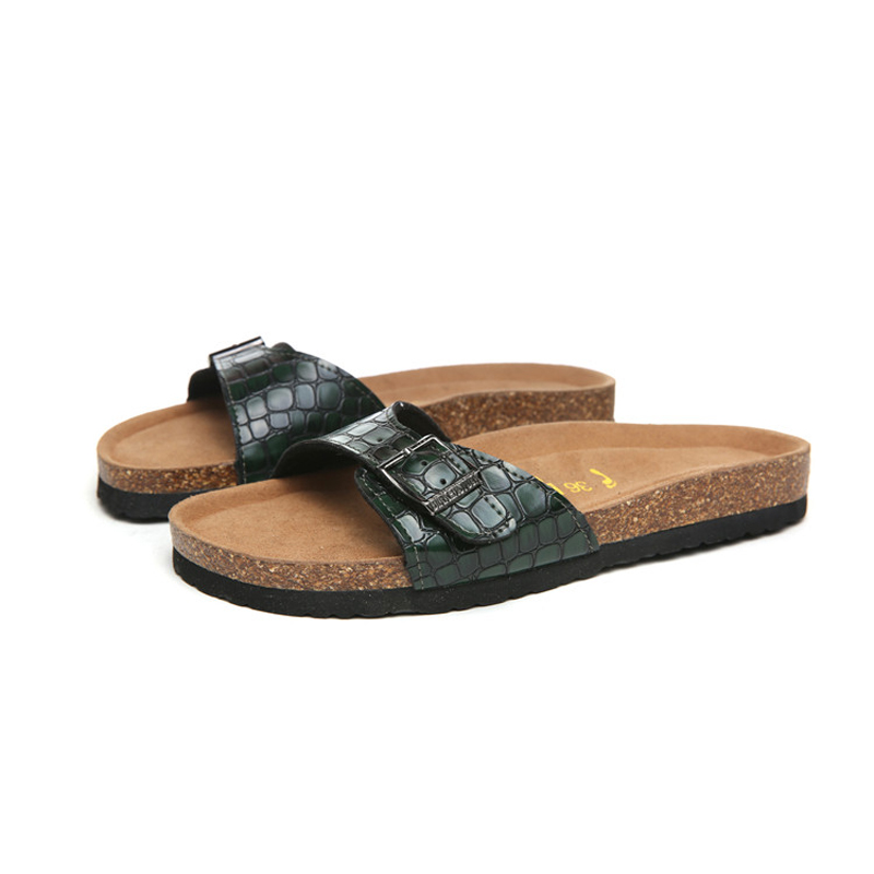2018 Birkenstock 077 Leather Sandal green