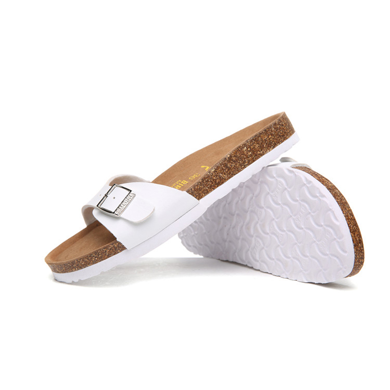 2018 Birkenstock 080 Leather Sandal white