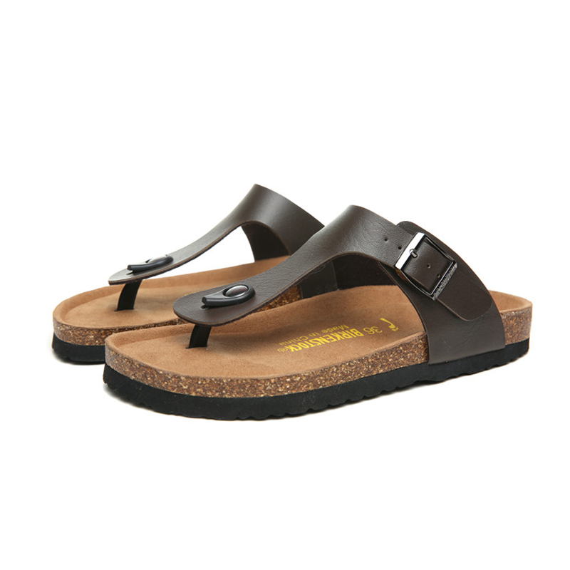 2018 Birkenstock 092 Leather Sandal Dark brown