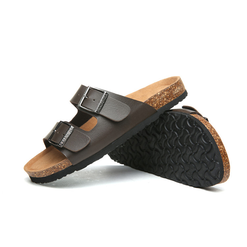 2018 Birkenstock 095 Leather Sandal Dark brown