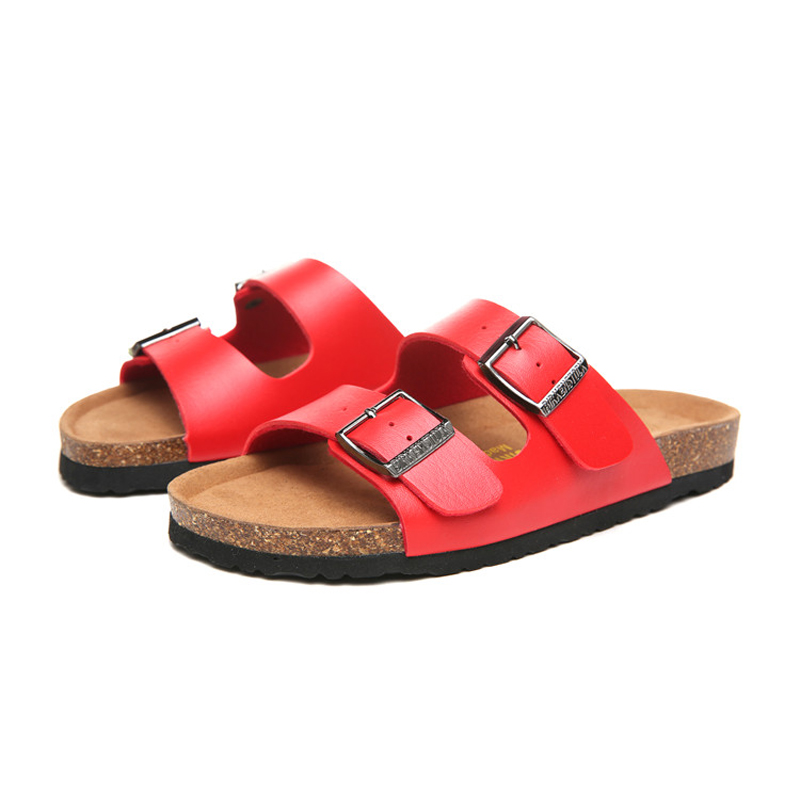 2018 Birkenstock 097 Leather Sandal red