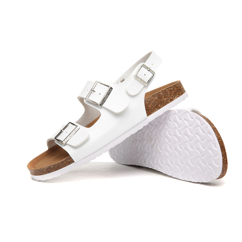 2018 Birkenstock 002 Leather Sandal white