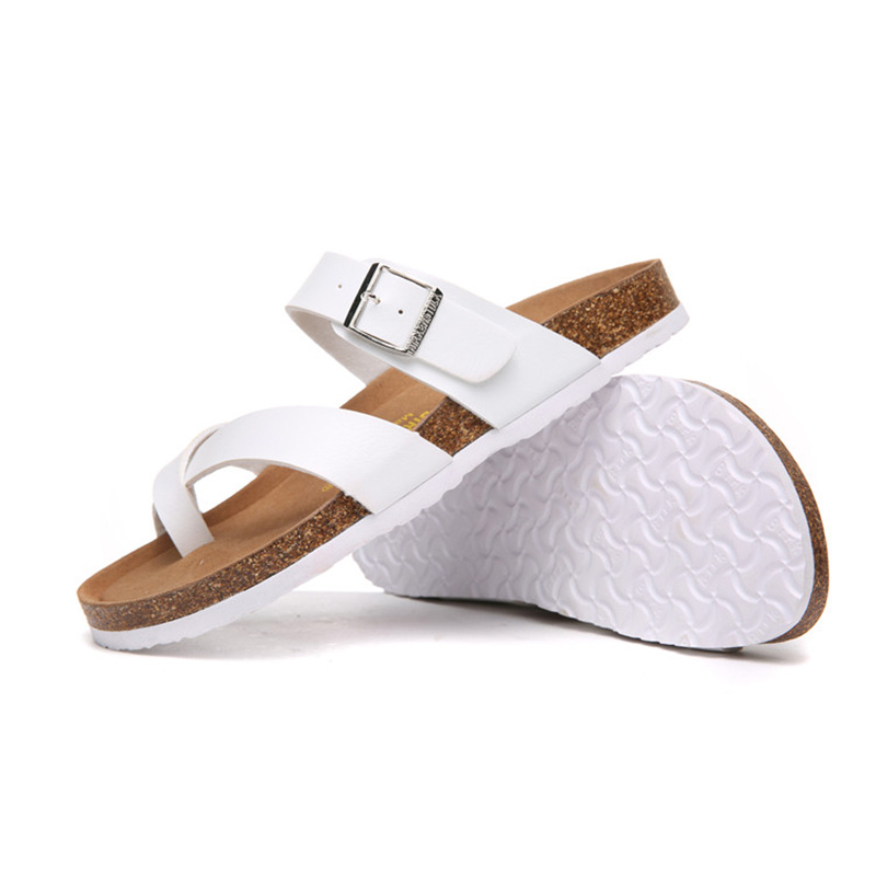 2018 Birkenstock 014 Leather Sandal white