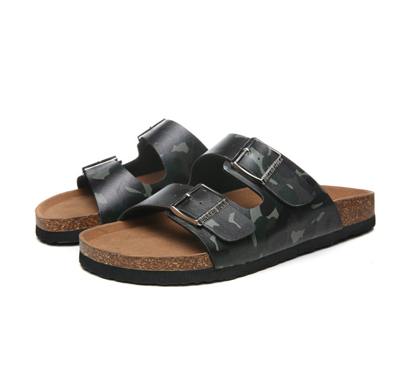 2018 Birkenstock 131 Leather Sandal Camouflage black