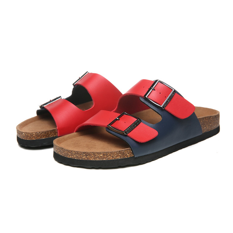2018 Birkenstock 133 Leather Sandal White and red