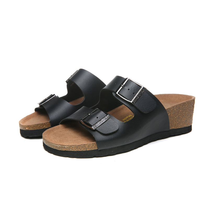2018 Birkenstock 136 Leather Sandal black