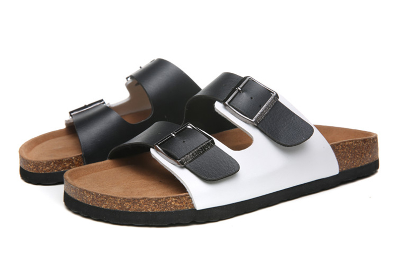 2018 Birkenstock 140 Leather Sandal White and black