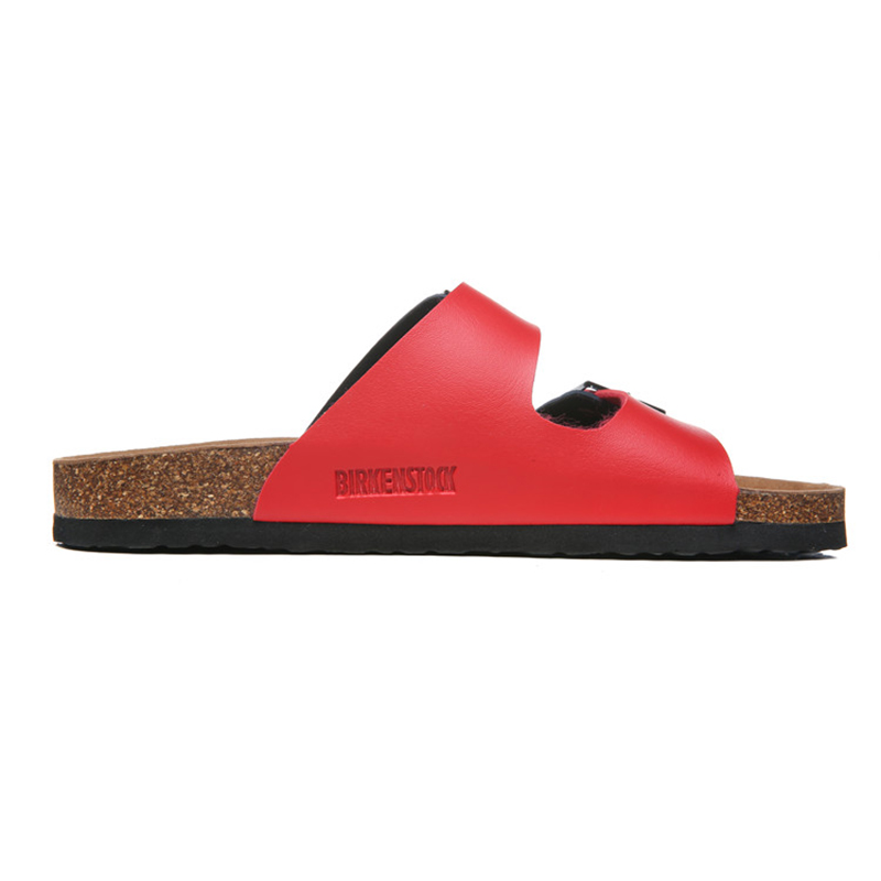 2018 Birkenstock 141 Leather Sandal White and red