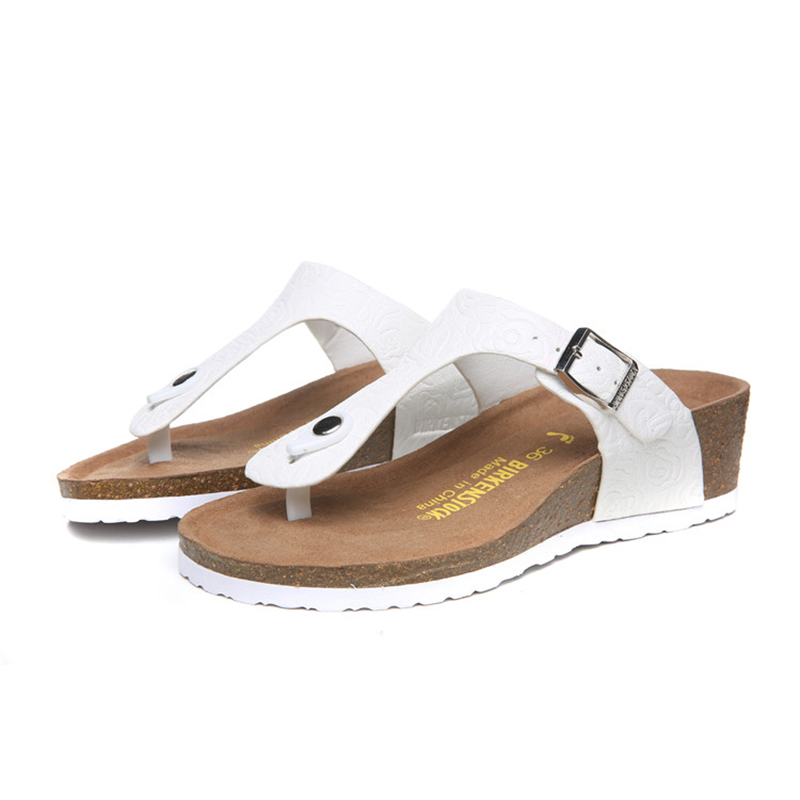2018 Birkenstock 142 Leather Sandal white
