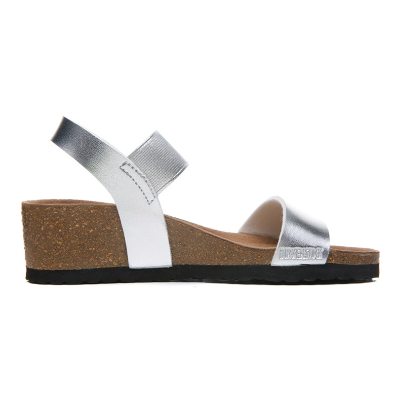 2018 Birkenstock 159 Leather Sandal silver