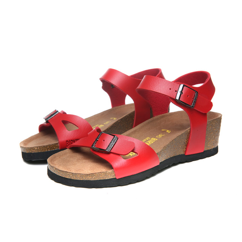 2018 Birkenstock 163 Leather Sandal red